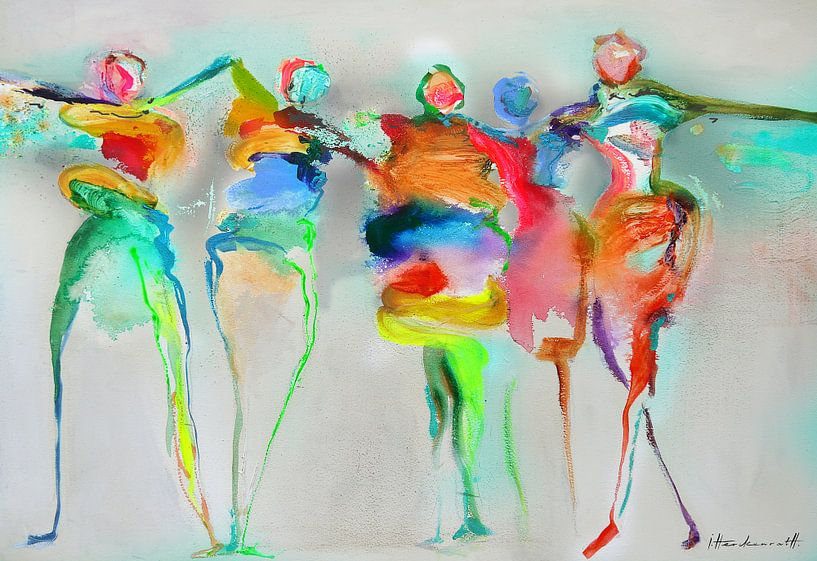 Happy Connected People 1 van Atelier Paint-Ing