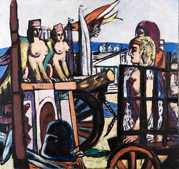 ABTRANSPORT DER SPHINXE, MAX BECKMANN, 1945