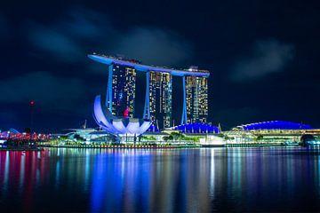 Marina Bay Sands hotel en ArtScience museum von Rutger Kuus