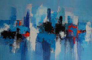 Skyline in Blau