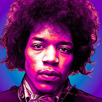 PopArt Kunst von Jimi Hendrix von Martin Melis