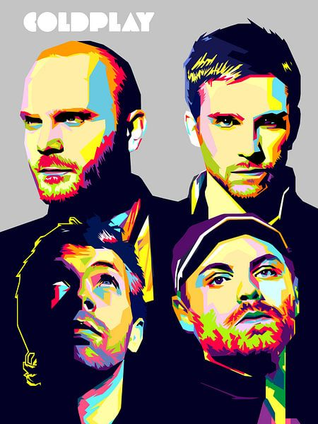 Pop Art Coldplay van Jan Willem van Doesburg