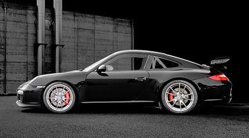 Porsche 911 GT3 Type 997 in donker zwart