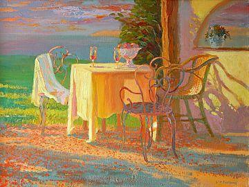 Evening Terrace van William Ireland