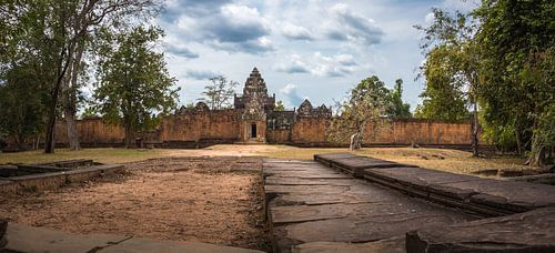 Panorama van een tempel, Cambodja