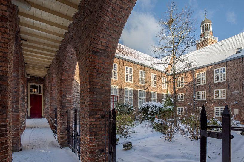 Doelenhuis in de winter, Utrecht van André Russcher
