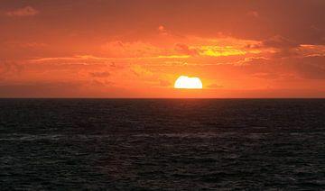 Coucher de soleil sur la côte de Zeeland sur