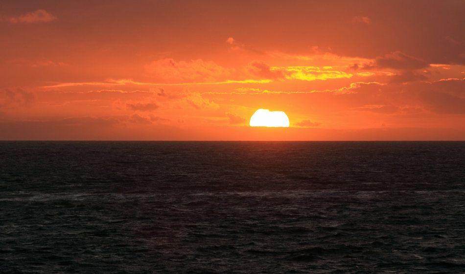 Zonsondergang aan de Zeeuwse kust van MSP Canvas