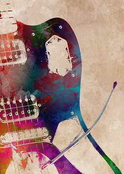Gitaar 2 muziekkunst #gitaar #muziek van JBJart Justyna Jaszke