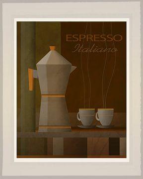 Espresso Italiano - Art Deco von Joost Hogervorst