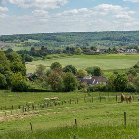 Uitzicht op de Schweiberg in Zuid-Limburg sur John Kreukniet