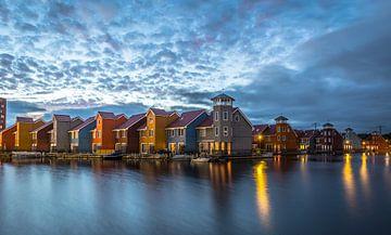 Reitdiephaven in Groningen. Blauwe uurtje. von Claudio Duarte