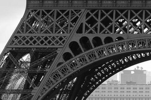 Detail van de Eiffeltoren van