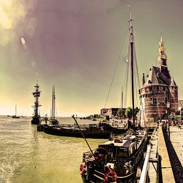 Hoorn Haven Noord-Holland Nederland van Hendrik-Jan Kornelis