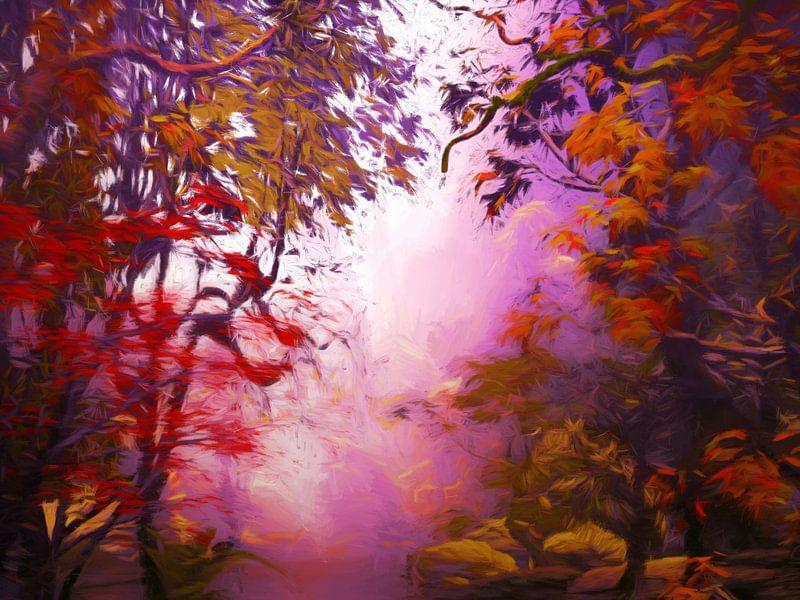 Forêt d'automne van Angel Estevez
