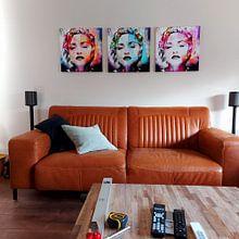 Kundenfoto: Madonna Abstrakt Porträt Orange Rot von Art By Dominic, auf leinwand