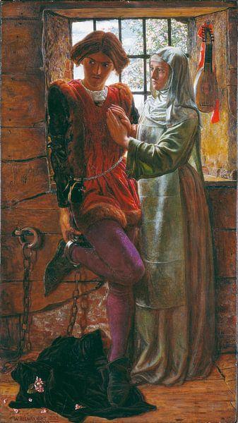 William Holman Hunt - Claudio and Isabella van 1000 Schilderijen