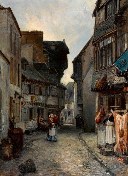 Eine Straße in Landerneau, Johan Barthold Jongkind von Meesterlijcke Meesters
