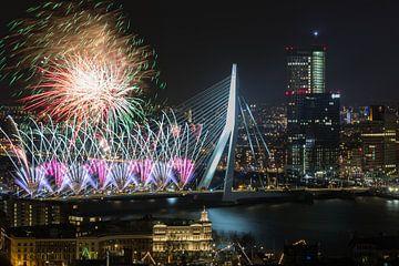 Nationale Feuerwerk 2018 in Rotterdam von MS Fotografie | Marc van der Stelt