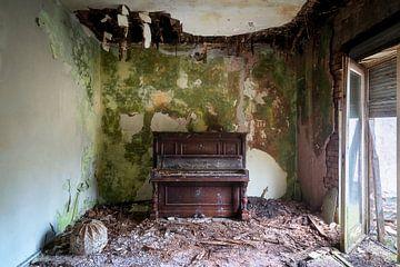 Verlassenes Klavier im Zerfall. von Roman Robroek