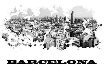 Barcelona van Printed Artings