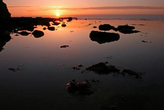 zonsondergang Helgoland