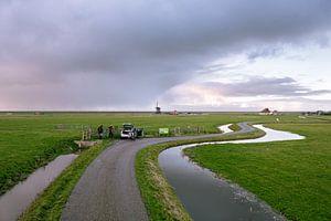 Vogelspotters in de polder van Koen van der Lee