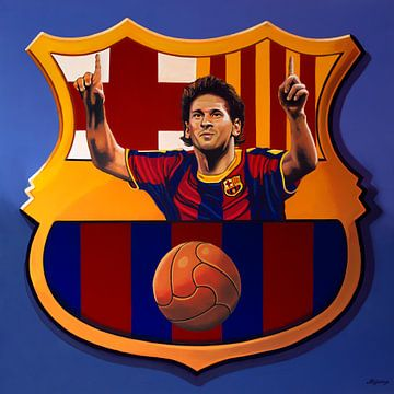FC Barcelona Barcelona Painting von Paul Meijering