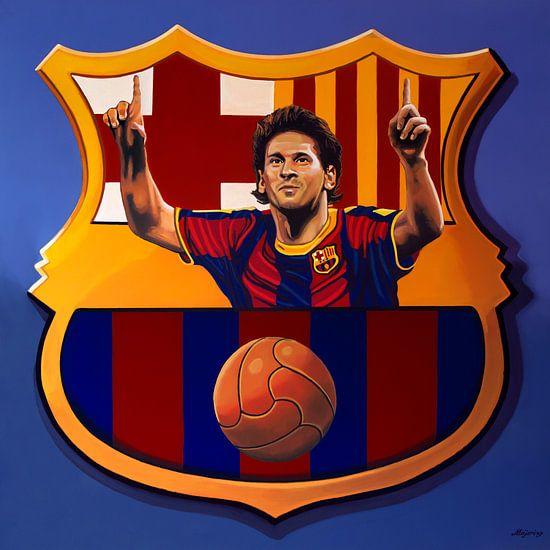 FC Barcelona Barcelona Schilderij van Paul Meijering