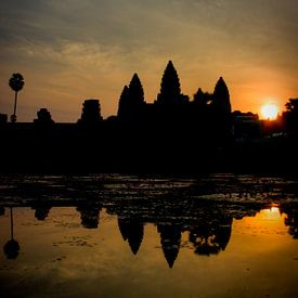 zonsopgang bij Angkor Wat porrtet van Marie-Lise Van Wassenhove