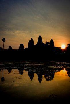 zonsopgang bij Angkor Wat porrtet von Marie-Lise Van Wassenhove