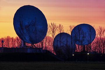 Satellietschotels Burum na zonsondergang