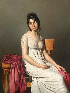 Porträt einer jungen Frau in Weiß, Jacques-Louis David