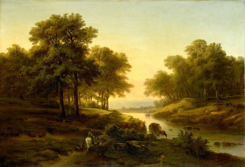 Landschaft, Alexandre Calame von Meesterlijcke Meesters