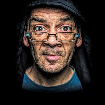 Portrait d'une personne sans domicile fixe sur Michael Bulder
