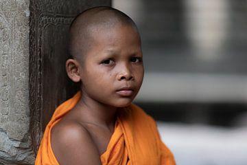Portrait of a buddhist monk van Rick van der Poorten