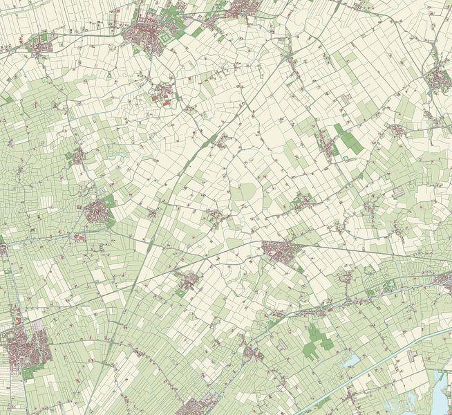 Kaart van Loppersum van Rebel Ontwerp