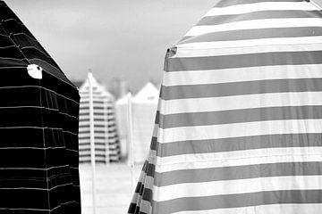 Strand (Schwarz-Weiß) von Rob Blok