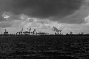 Zicht op Maasvlakte europort van