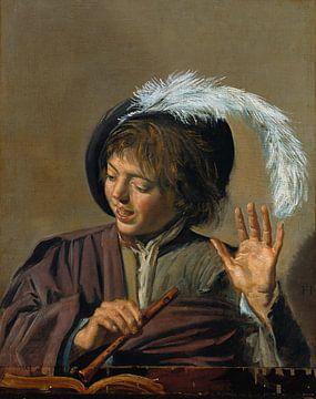 Frans Hals. Zingende jongen met fluit