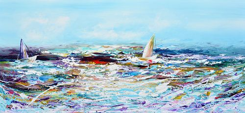 Sailing abstract von Gena Theheartofart