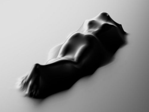 Körper mit Tuch von