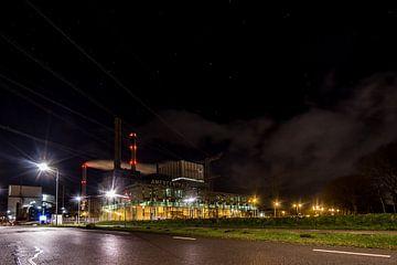 Geertruidenberg in het donker: Amercentrale van Thomas van der Willik
