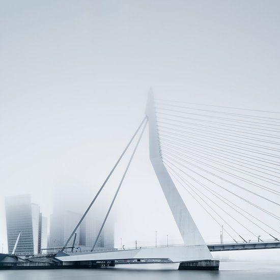 Rotterdam in de mist