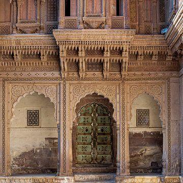 Entree aan de binnenplaats van Mehrangarh, Jodhpur