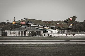 Landing SU-22 Fitter van Jasper Scheffers