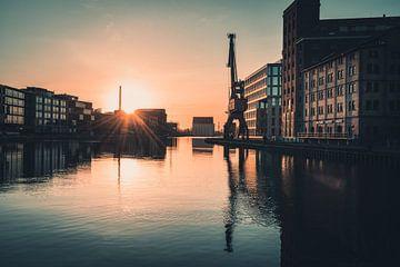 Sonnenaufgang im Stadthafen Münster von Steffen Peters