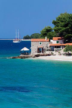 Haus am Strand, Bol, Insel Brac, Dalmatien, Kroatien von Markus Lange