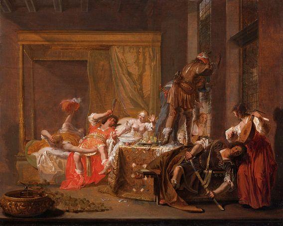 Scène uit het huwelijk van Messalina en Gaius Silius, Nicolaes Knüpfe