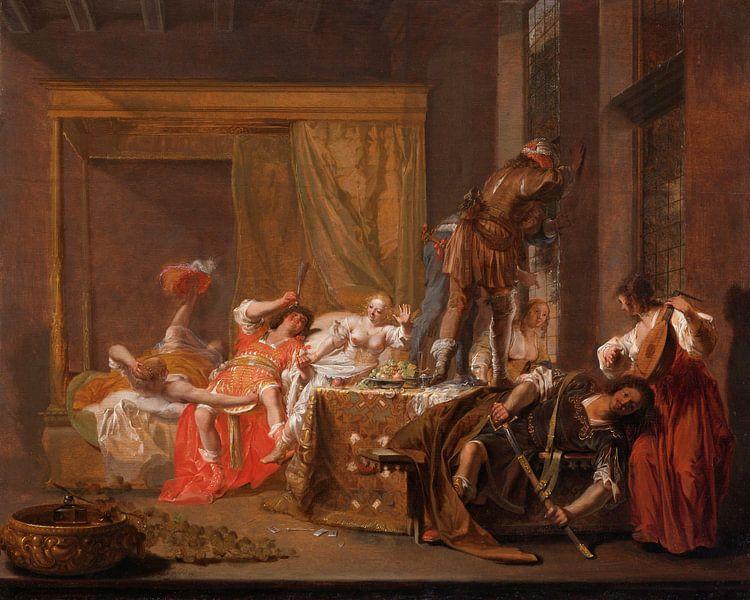 Scène uit het huwelijk van Messalina en Gaius Silius, Nicolaes Knüpfe van Meesterlijcke Meesters